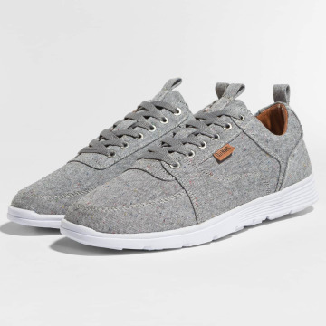 Djinns Sneakers For Low Spotted Linen grey