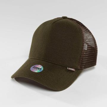 Djinns trucker cap HFT Piki Leather bruin