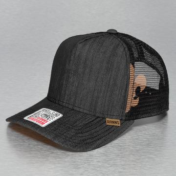 Djinns Trucker Cap Linen 2014 High Fitted nero