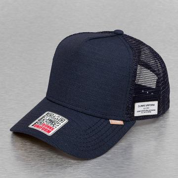 Djinns Trucker Caps Glen Check High Fitted blå