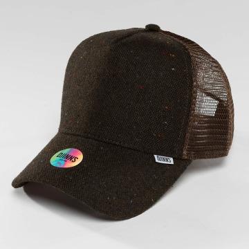 Djinns Trucker Caps HFT Felt Rubber brun