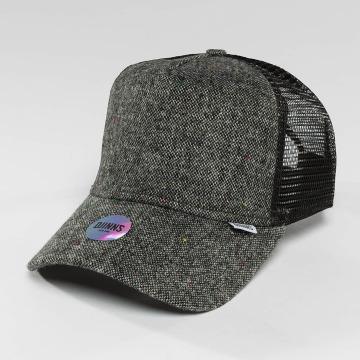 Djinns Trucker Caps HFT Felt Rubber grå
