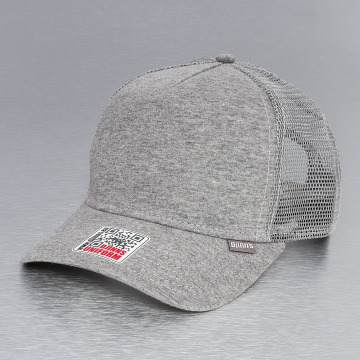 Djinns Trucker Caps Cut & Sew High Fitted grå