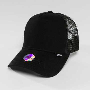 Djinns Trucker Caps HFT Piki Leather sort