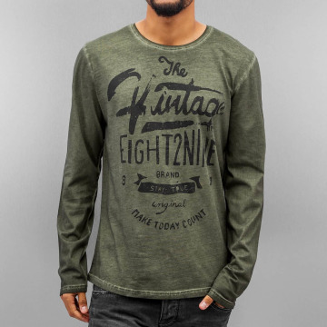 Eight2Nine T-Shirt manches longues Stay True olive