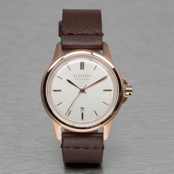 Electric horloge CARROWAY bruin