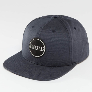 Electric snapback cap Rubber Stamp blauw