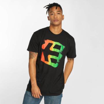 Etnies Camiseta Icon Sprayed negro