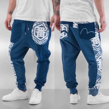 EVISU Pantalone ginnico Ichiban blu