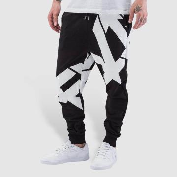 EVISU Pantalone ginnico Seagull nero