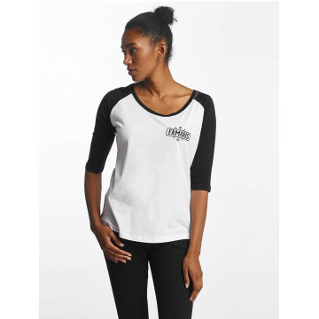 Famous Stars and Straps T-Shirt Chaos Patch Raglan weiß