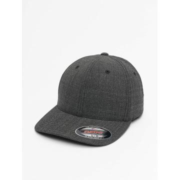 Flexfit Flexfitted Cap Fine Melange schwarz