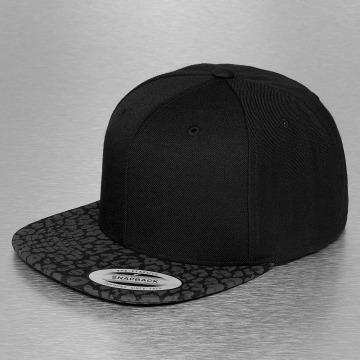 Flexfit Snapback Cap Animal Tone in Tone schwarz