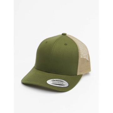 Flexfit trucker cap Retro groen