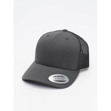 Flexfit Trucker Caps Retro šedá