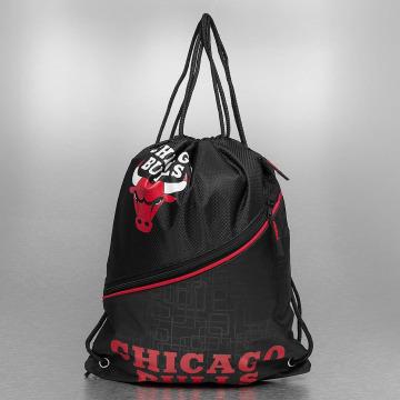 Forever Collectibles Sac à cordons NBA Diagonal Zip Drawstring Chicago Bulls noir