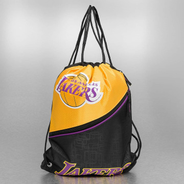 Forever Collectibles Sac à cordons NBA Diagonal Zip Drawstring LA Lakers noir