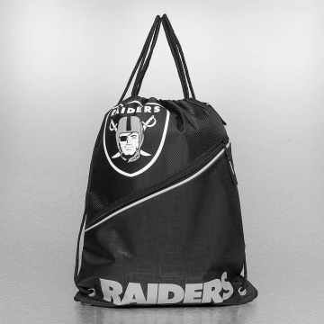 Forever Collectibles Sac à cordons NFL Diagonal Zip Drawstring Oakland Raiders noir