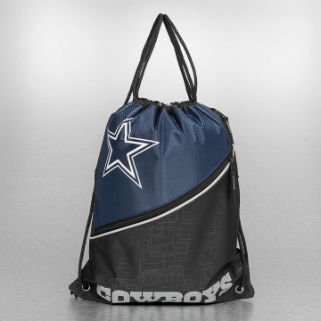 Forever Collectibles Sacchetto NFL Diagonal Zip Drawstring Dallas Cowboys nero