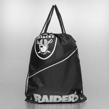 Forever Collectibles Sacchetto NFL Diagonal Zip Drawstring Oakland Raiders nero