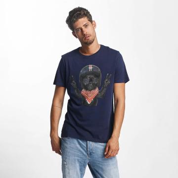 French Kick T-shirt Steve blu