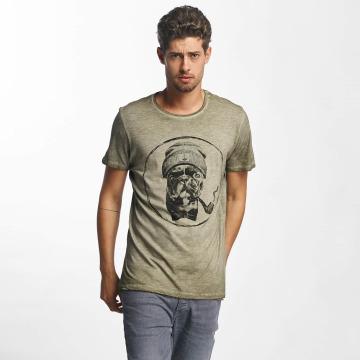 French Kick T-Shirty Bavu khaki