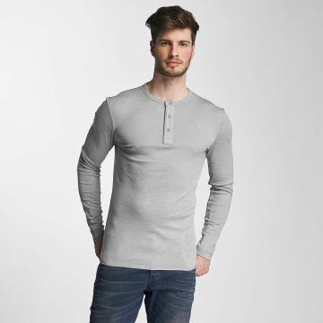 G-Star T-Shirt manches longues Core Granddad Jisoe 1x1 Rib gris
