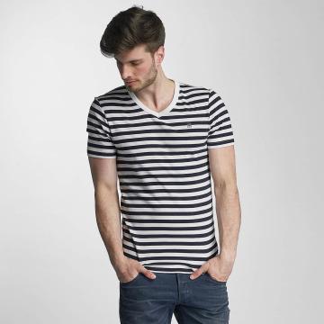G-Star t-shirt Bonded Cool Rib Small Premiere Stripe V wit
