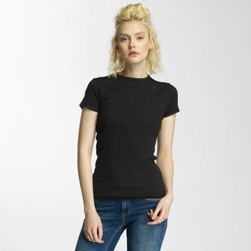 G-Star T-shirts Silber Slim Trin Rib sort