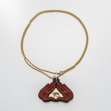 Good Wood NYC Necklace NYC Secret Society gold colored