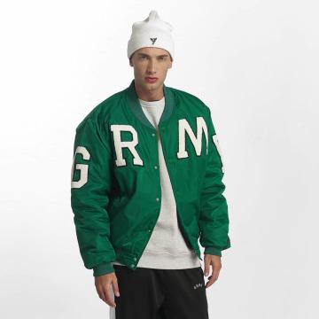 Grimey Wear Basebalové bundy Jade Lotus Satin zelená