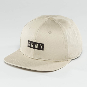 Grimey Wear snapback cap Overcome Gravity beige