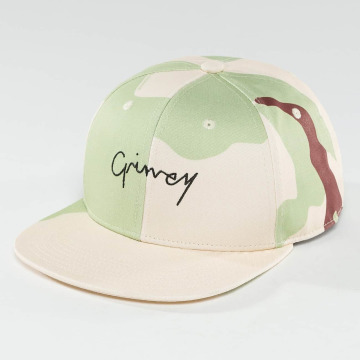 Grimey Wear Snapback Cap Natural Camo camouflage