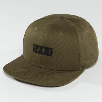Grimey Wear snapback cap Overcome Gravity olijfgroen