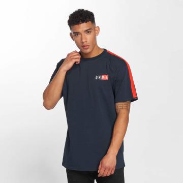 Grimey Wear T-shirt Ashe Piping blu