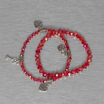 Hailys armband Chrissy rood