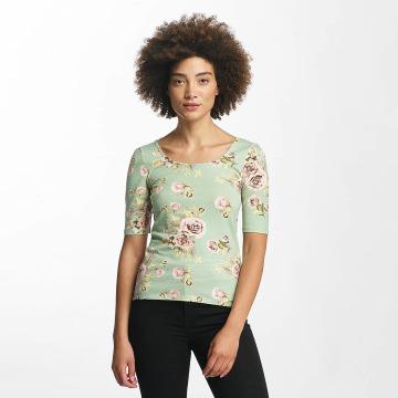 Hailys Camiseta de manga larga Rachel Flower verde