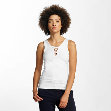Hailys Tops Ann Lace-Up bialy