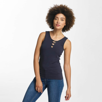 Hailys Tops Ann Lace-Up blu