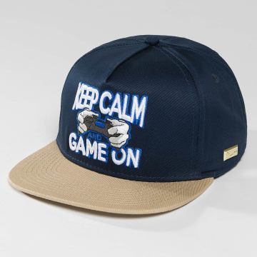 Hands of Gold Snapback Caps Game On modrý