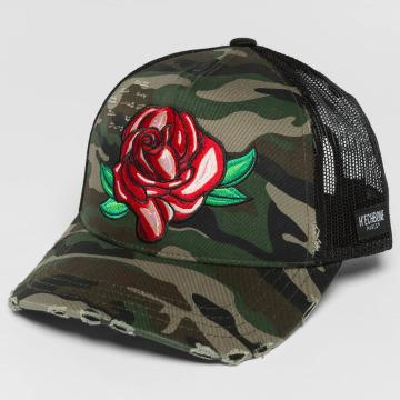 Hechbone Trucker Caps Rose kamufláž