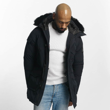 Helvetica Manteau hiver Timber Long Black Edition bleu