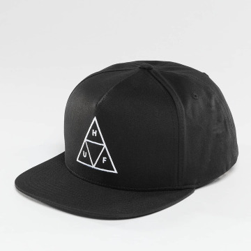 HUF Snapback Cap Triple Triangle nero