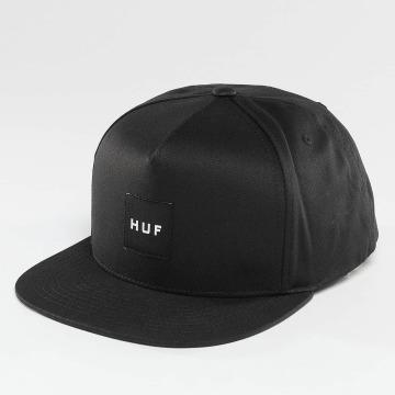 HUF snapback cap Box Logo zwart