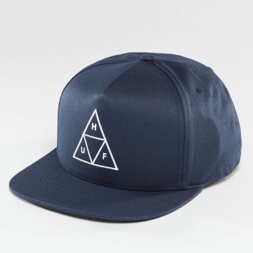 HUF Snapback Caps Triple Triangle blå
