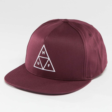 HUF Snapback Caps Triple Triangle rød