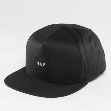 HUF Snapback Caps Box Logo sort