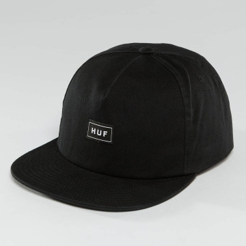 HUF Snapback Caps Bar Logo sort