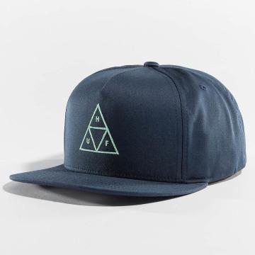 HUF Snapback Triple Triangle modrá