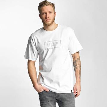 HUF T-Shirt Bar Logo blanc